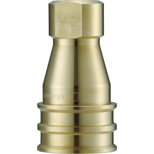長堀工業 ナック クイックカップリング S・P型 真鍮製 オネジ取付用 CSP12S2