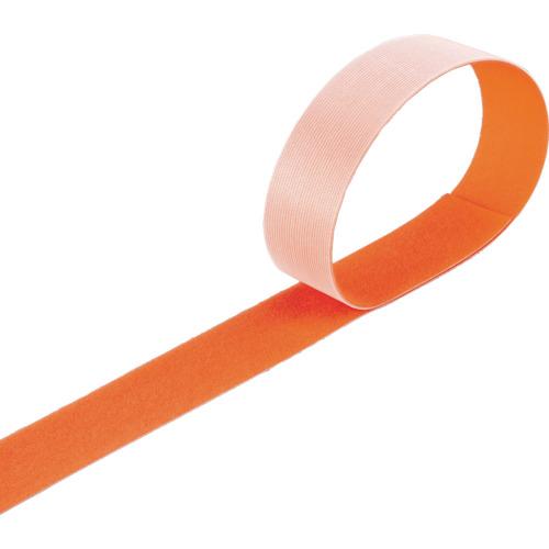 トラスコ中山 TRUSCO マジックバンド結束テープ 両面 オレンジ 40mm×30m MKT-40W-OR MKT-40W-OR