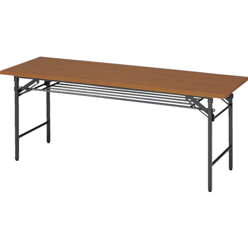 トラスコ中山 TRUSCO 折りたたみ会議テーブル 1800X600XH700 チーク 1860
