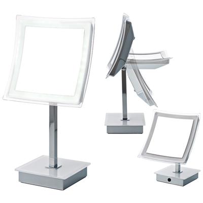 オルゴ サロンやメイクアップアーティストも使用するプロ仕様!ハッキリ見える驚きの鏡 真実の鏡DX 角型 (Sタイプ) EC001AC-5X-S