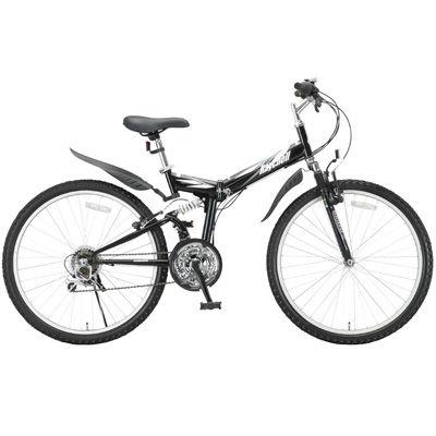 Raychell MTB-2618R 折りたたみ自転車 ブラック MTB-2618R