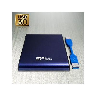シリコンパワー <A80>ポータブルハードディスク(500GB/USB3.0/青/防水/耐衝撃) S740081