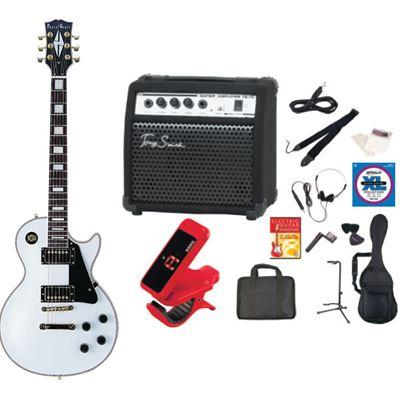 PhotoGenic(フォトジェニック) PhotoGenic フォトジェニック エレキギター TG75 アンプセット LP-300/WH ホワイト LP300WH-TG75