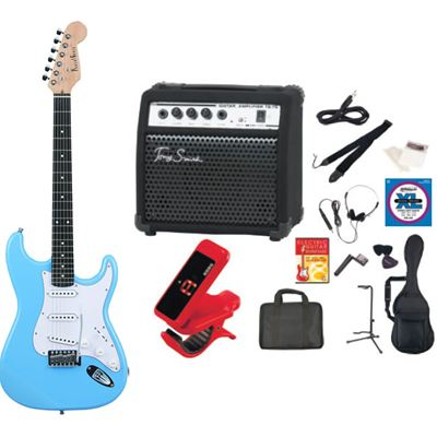 PhotoGenic(フォトジェニック) PhotoGenic フォトジェニック エレキギター TG75 アンプセット ST-180/UBL ライトブルー ST180UBL-TG75