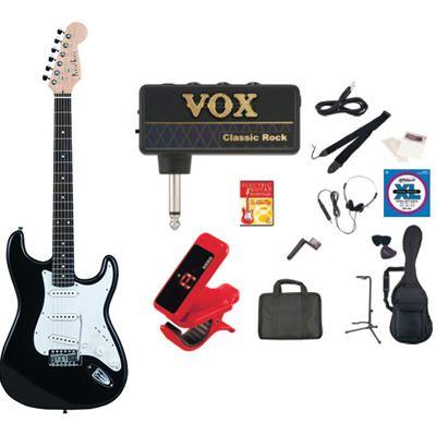 PhotoGenic(フォトジェニック) PhotoGenic フォトジェニック エレキギター amPlug ヘッドフォンアンプセット ST-180/BK ブラック ST180BK-APCR
