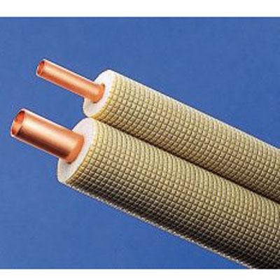 送料無料 卓出 因幡電工 エアコン配管用被覆銅管 ペアコイル 2分4分 PC2420 新色追加 20m