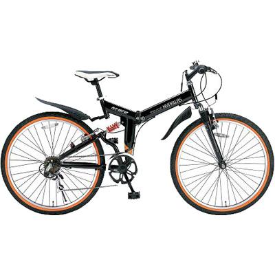マイパラス 26インチ 折畳ATB自転車 6SP・Wサス ブラック M-670-BK【納期目安:07/下旬入荷予定】