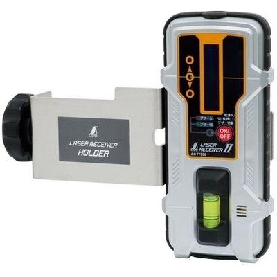 シンワ測定 受光器 レーザーレシーバーII ホルダー付 77398