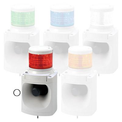 パトライト LED積層信号灯付電子音報知器 LKEH-102FD-R【納期目安:1週間】