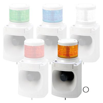 パトライト LED積層信号灯付電子音報知器 LKEH-102FC-Y【納期目安:1週間】