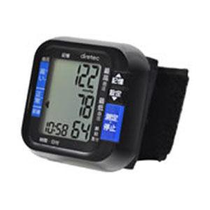 あす楽対応_関東 即納 超歓迎された DRETEC 気軽に測定できるコンパクトな手首式血圧計 BM-100BK ブラック