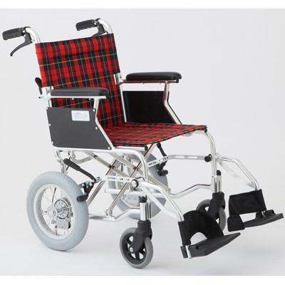 MIWA HTB-12D 車椅子 チェックレッド OTM-19199