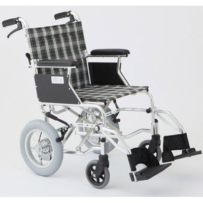 MIWA HTB-12D 車椅子 チェックグリーン OTM-19200