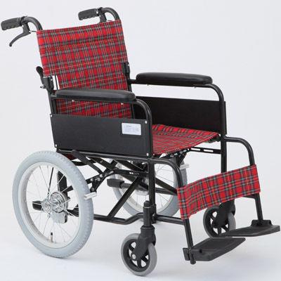 MIWA MW-16A N(ノーパンク仕様) 車椅子 ルビーレッド OTM-19214