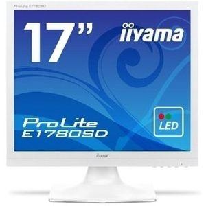 イーヤマ <ProLite>17インチ スクエア 液晶ディスプレイ(1280x1024/D-Sub15Pin/DVI/スピーカー/LED/ノングレア/TNパネル/ピュアホワイト) E1780SD-W1【納期目安:追って連絡】