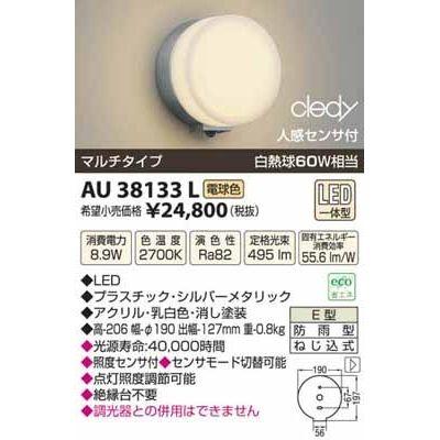 コイズミ LED防雨型ブラケット AU38133L