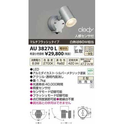 コイズミ LEDアウトドアスポット AU38270L