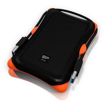 シリコンパワー Armor A30 USB3.0対応ポータブルハードディスク 1000GB(1TB) ブラック S7400FK【納期目安:2週間】
