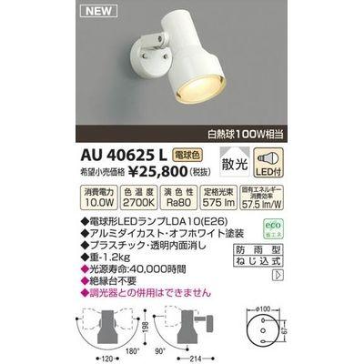 コイズミ LEDアウトドアスポット AU40625L