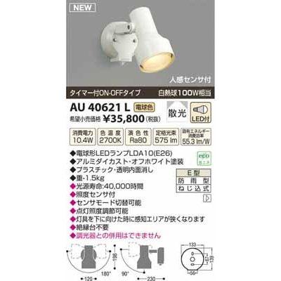 コイズミ LEDアウトドアスポット AU40621L