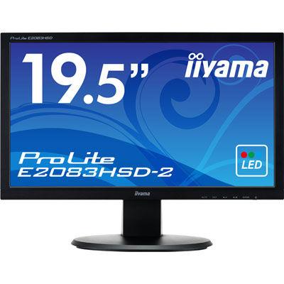 イーヤマ <ProLite>19.5インチ ワイド 液晶ディスプレイ(1600x900/D-Sub15Pin/DVI/スピーカー/LED/ノングレア/TNパネル/マーベルブラック) E2083HSD-B2【納期目安:追って連絡】
