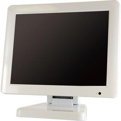 エーディテクノ 9.7インチ スクエア タッチパネル 液晶ディスプレイ(1024x768/HDMI/DVI/VGA/スピーカー/LED/IPSパネル/5線式抵抗膜/業務用/ホワイト) LCD97TW【納期目安:1週間】