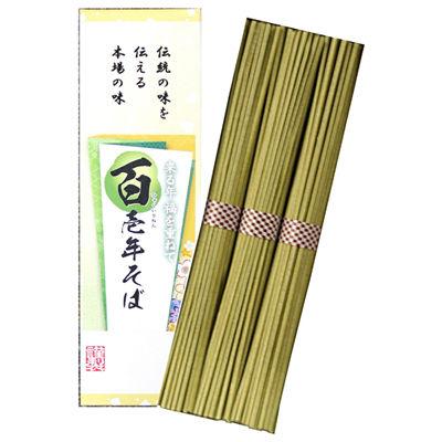 三盛物産 【60個セット】百壱年そば [茶そば50g×3束] QQC-3