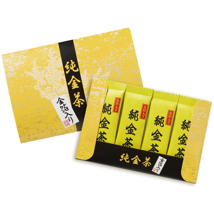 三盛物産 【100個セット】純金茶 [2g×4個] J-20