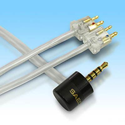 SAEC 1.2m FitEarイヤホン交換ケーブル SHC-B200FF/1.2