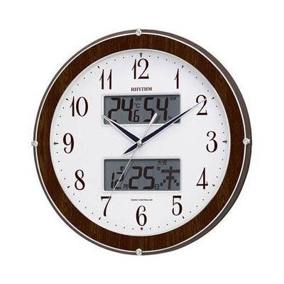 リズム時計 ピュアカレンダー622(茶) 4FY622SR23