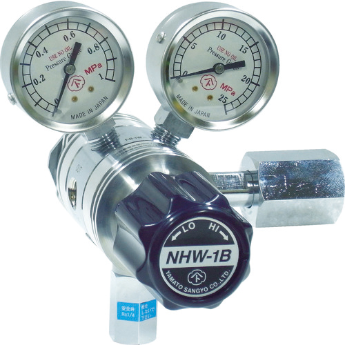 ヤマト産業 ヤマト 分析機用フィン付二段圧力調整器 NHW-1B 4560125829581
