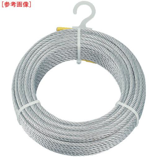 トラスコ中山 TRUSCO メッキ付ワイヤロープ Φ5mmX200m 4989999336122