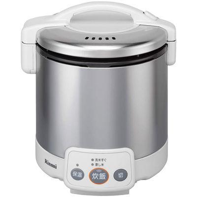 リンナイ 電子ジャー付ガス炊飯器 こがまる 1~5合炊き(グレイッシュホワイト)(13A) RR-050VM(W)(13A)