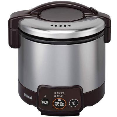 リンナイ 電子ジャー付ガス炊飯器 こがまる 0.5~3合炊き(ダークブラウン)(LP) RR-030VM(DB)(LP)
