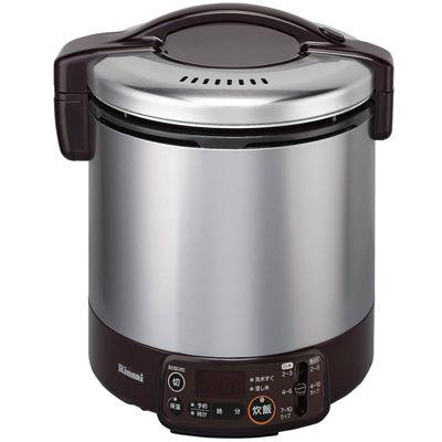 リンナイ タイマー・電子ジャー付ガス炊飯器 こがまる 2~10合炊き(ダークブラウン)(LP) RR-100VMT(DB)(LP)