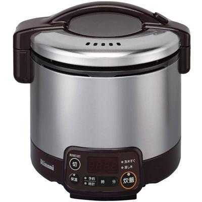 リンナイ タイマー・電子ジャー付ガス炊飯器 こがまる 0.5~3合炊き(ダークブラウン)(LP) RR-030VMT(DB)(LP)