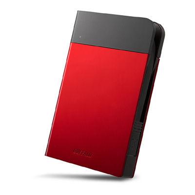 バッファロー ICカード対応MILスペック耐衝撃ボディー防滴・防塵ポータブルHDD 1TB レッド HD-PZN1.0U3-R