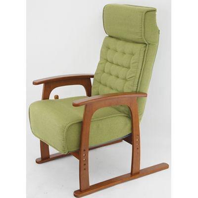ヤマソロ コイルバネ高座椅子【若葉】 色:グリーン 83-806