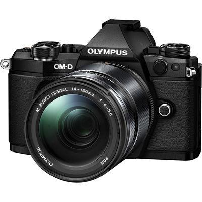 オリンパス <OM-D>OLYMPUS ミラーレス一眼カメラ E-M5 Mark II 14-150mm・II レンズキット(1605万画素/ブラック) E-M5_MARKII_14-150_LK_BLK