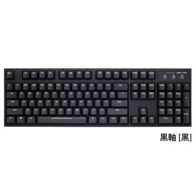 ARCHISS ARCHISS ProgresTouch RETRO メカニカルフルキーボード 英語ASCII配列 黒モデル フルキーボード 2色成型 黒軸 [黒] AS-KBPD04/LBK