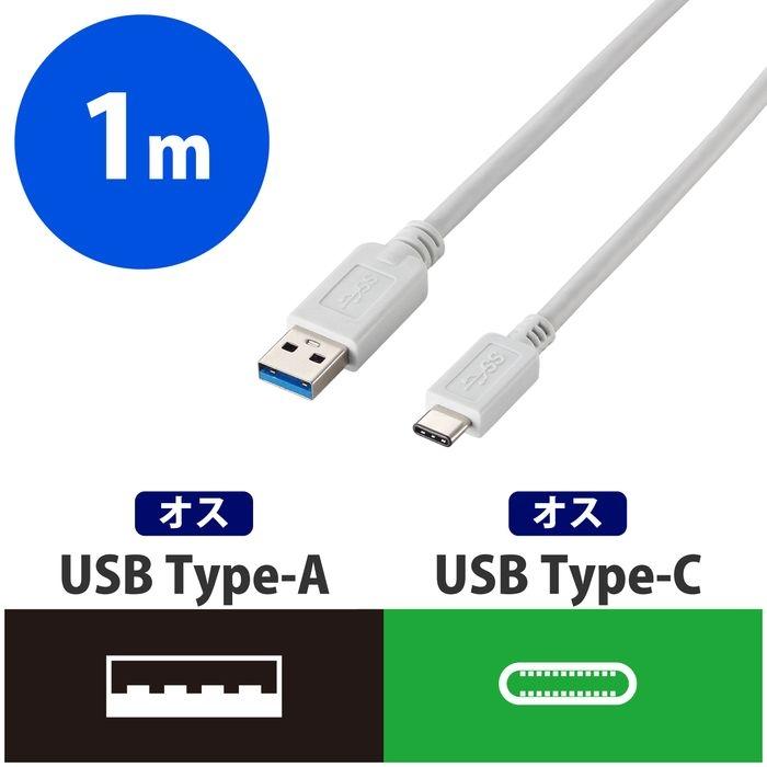 新色追加して再販 エレコム USB3.1ケーブル for Apple A-Cタイプ 1m ☆最安値に挑戦 USB3-APAC10WH ホワイト ノーマル