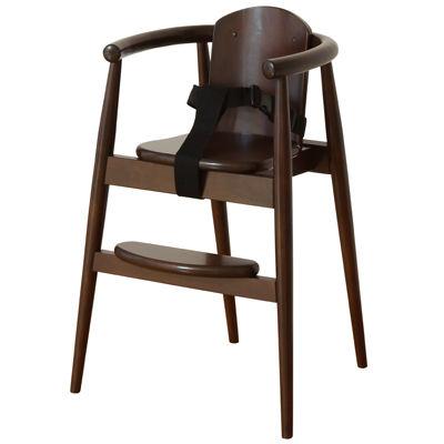 大和屋 スタックチェア BT DB(ダークブラウン) 木製ハイチェア 4539066025369