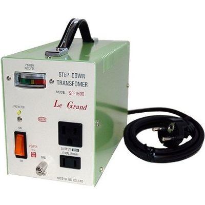 日章工業 ハイクラスダウントランス(AC220V/240V切換、1500W) SP-1500【納期目安:3週間】