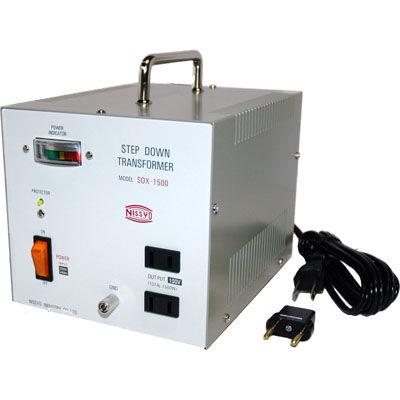 日章工業 ハイクラスダウントランス(AC220V/240V切換、1500W) SDX-1500【納期目安:3週間】