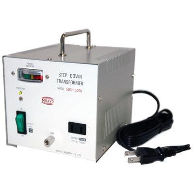 日章工業 ハイクラスダウントランス(AC110V/120V切換、1500W) SDX-1500U【納期目安:3週間】