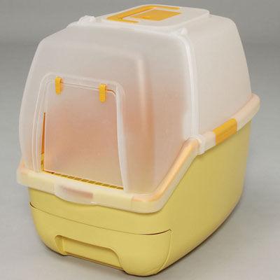 アイリスオーヤマ 楽ちん猫トイレ フード付きセット RCT-530F オレンジ 4905009844661