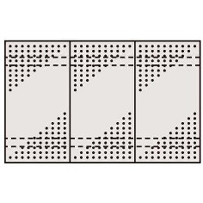 サカエ ステンレスパンチングウォールシステム PO-453LSU