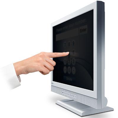 EIZO <DuraVision>17インチ スクエア タッチパネル 液晶ディスプレイ(1280x1024/D-Sub15Pin/DVI/スピーカー/LED/グレア/TNパネル/超音波表面弾性波/セレーングレイ) FDS1721T-PF