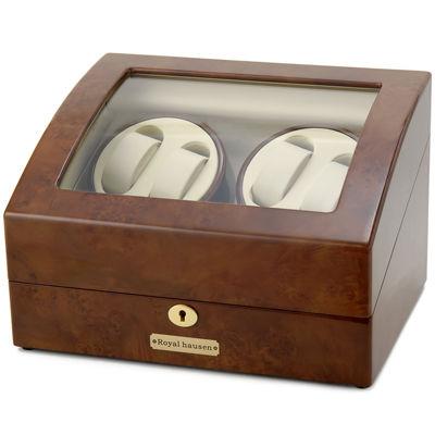 ロイヤルハウゼン ワインダー 時計収納ケース付きワインダー4本巻5本収納 GC03 D31 ワインディングマシーン 腕時計/自動巻き機 GC03-D31