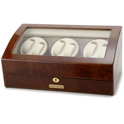 ロイヤルハウゼン ワインダー 時計収納ケース付きワインダー6本巻7本収納 GC03 T31 ワインディングマシーン 腕時計/自動巻き機 GC03-T31